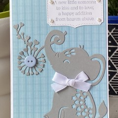 baby boy Card - baby shower card