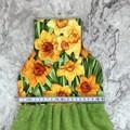 Daffodils hanging hand towel