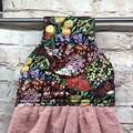 Australian wildflowers hanging hand towel