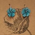 Delicate Floral Enamel Earrings Lots Of Colours