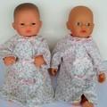 dolls clothes a nightie for mini baby born or small miniland doll 32cm.
