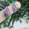 Galactic Rainbow Sparkle Sails (small) Stud earrings - Handcrafted earrings