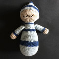 'Sleepyhead Amigurumi' Softie Boy Blue Baby Doll