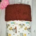 Baby Blanket, Soft Baby Receiving Blanket, Flannel Sherpa Cuddle Fleece Blanket