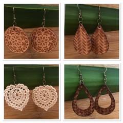 Genuine Leather or Crochet Earrings