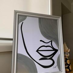 Big Beauty Face Framed Artwork