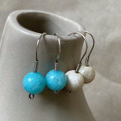 Simply Hooked Silver Earrings - Custom Options Available