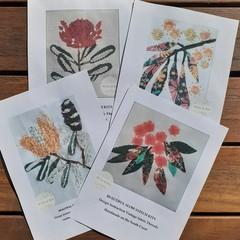 Stitch Kits by Petal & Sea- Vibrant orange Eucalypt