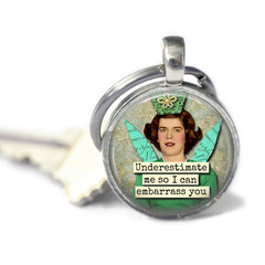 Witty women keyring, add your charms