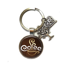 Coffee keyring, add your charms