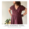 Aubergine crinkle linen wrap dress with short sleeves, knee length small- medium