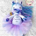 Personalised Jointed Unicorn Plushie