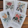 Stitch Kits by Petal & Sea- Vibrant orange Eucalypt