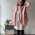 Dusty pink linen kimono style oversized boxy jacket with pockets.