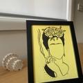 Frida Kahlo Line Drawing Framed Artwork