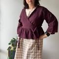 Aubergine crinkle linen! Amazing! Wrap top or jacket size small - medium