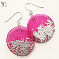 Round Disc Drop Earrings - Large   |   FREE SHIPPING