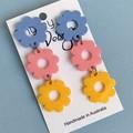 Triple Bloom Statement Earrings