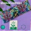 Be kind & Rainbow leopards adult sizing turban twist headband