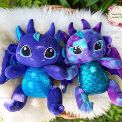 Jointed Dragon Plushie Two Sizes