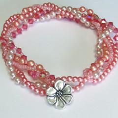 Vintage Look Swarovski Pearl and Crystal Bracelet