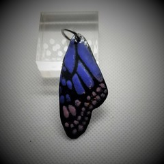 Butterfly Wing  Pendant Pink and Blue