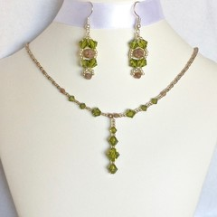 Swarovski Crystal Earring & Necklace Set: Lyrica & Landon