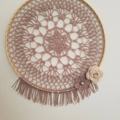 Softly Dusky Crochet Dreamcatcher