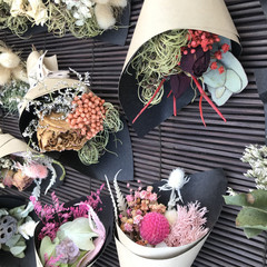 50 Mixed mini dried flowers bouquets  - Wedding, baby shower, wrapping