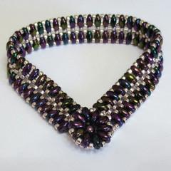 'Purple Iris' Cobblestone Bracelet