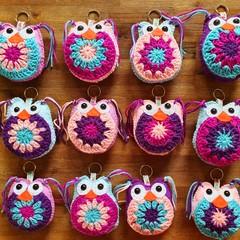 Crochet Owl Keyrings