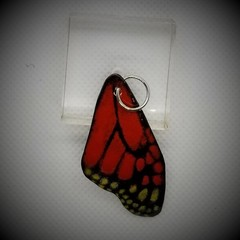 Butterfly Wing  Pendant Red and Yellow