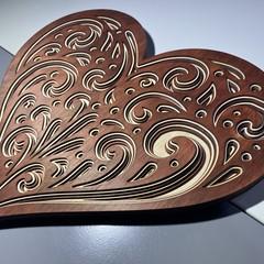 Heart Shaped Layered wall art