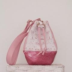 Small GypsyDrawstring  Bag - Pastel Unicorns