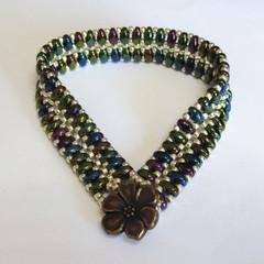 'Green Iris' Cobblestone Bracelet