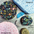 3PK Bowl Covers   Reusable   Reversible   Hemp Inner