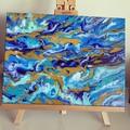 Ocean Swirl 40cm x 30cm (12x16in)
