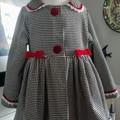 Velvet fully lined coat size 4