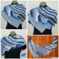 Dragon wing shoulder wrap - Asymmetrical shawl, crochet scarf - FREE SHIPPING