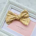 Nude Rose Pinwheel Bow