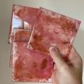 Handmade resin coasters - pink