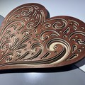 Heart Shaped Layered wall art