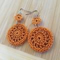 Round Double Dangle Crochet Earrings