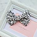 Black and White Vine Pinwheel Bow