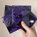 Handmade resin coasters - purple