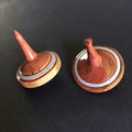 A Pair of 'Dead Finish' aka Kurara Decorated Spinning Tops (Item 126 a & b)