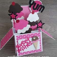 Card in a box - Ice Cream Sweet Wishes