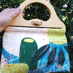 Lemon & teal Banksia handbag