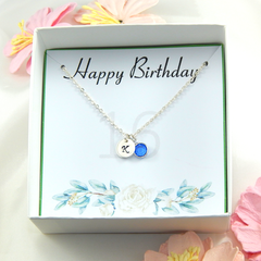 Personalized 16th Birthday Necklace gift,Birthstone Necklace