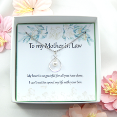Mother of the Groom Necklace Gift from Bride,Gift from Bride to Mother in Law